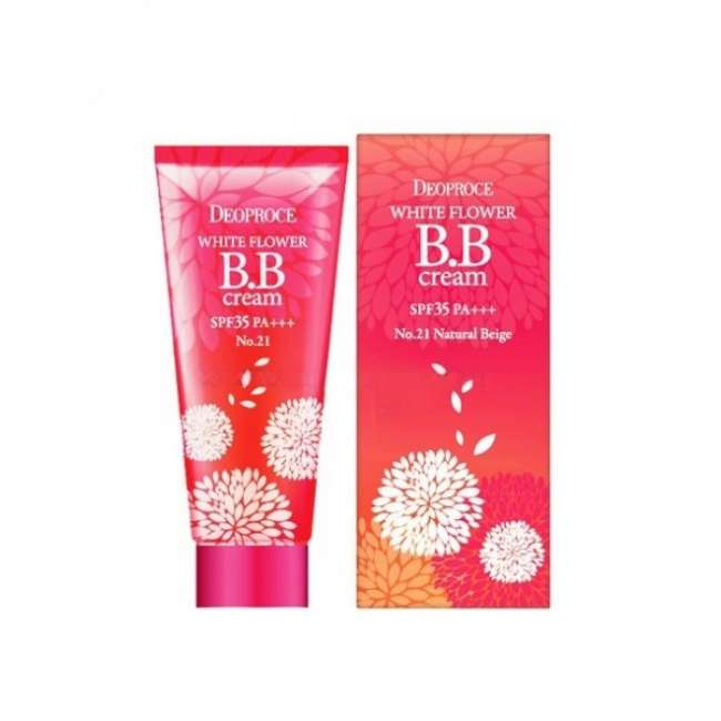 ББ крем SPF 35 Deoproce White Flower BB Cream SPF 35 #21 Natural Beige, 30 гр в интернет-магазине Etomarta.com
